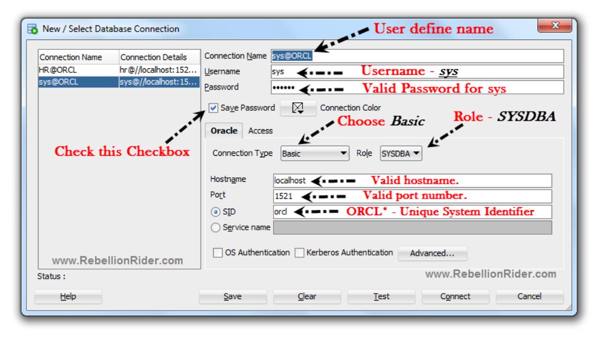 How To Make New Database Connection In SQL Developer   RebellionRider