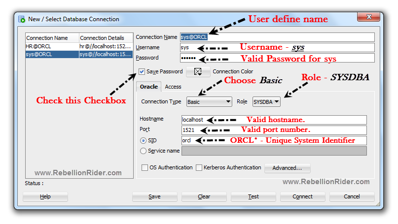 How to create new database connection in SQL Developer By Manish Sharma