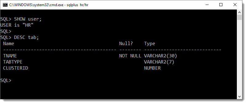 sql error ORA-00942: Table Or View Does Not Exist by manish sharma