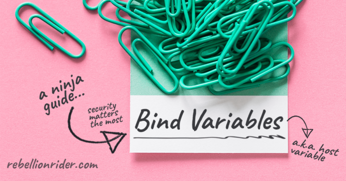 Bind variables in PL/SQL by Manish Sharma