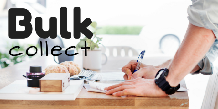 pl/sql bulk collect statement in oracle database by manish sharma