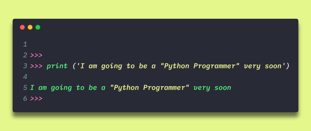 single line strings in python programming by manish sharma