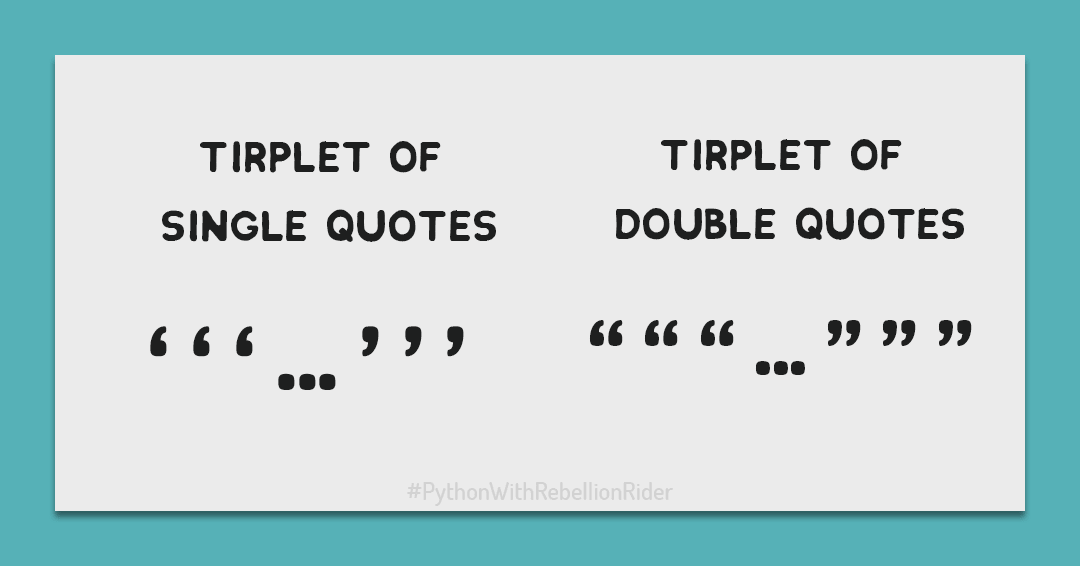 Triple Quotes For Multi-Line String in Python | RebellionRider