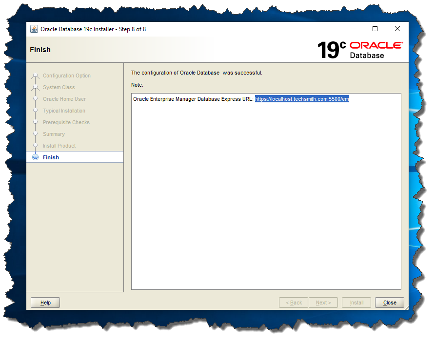 Oracle 19c Enterprise Manager URL link